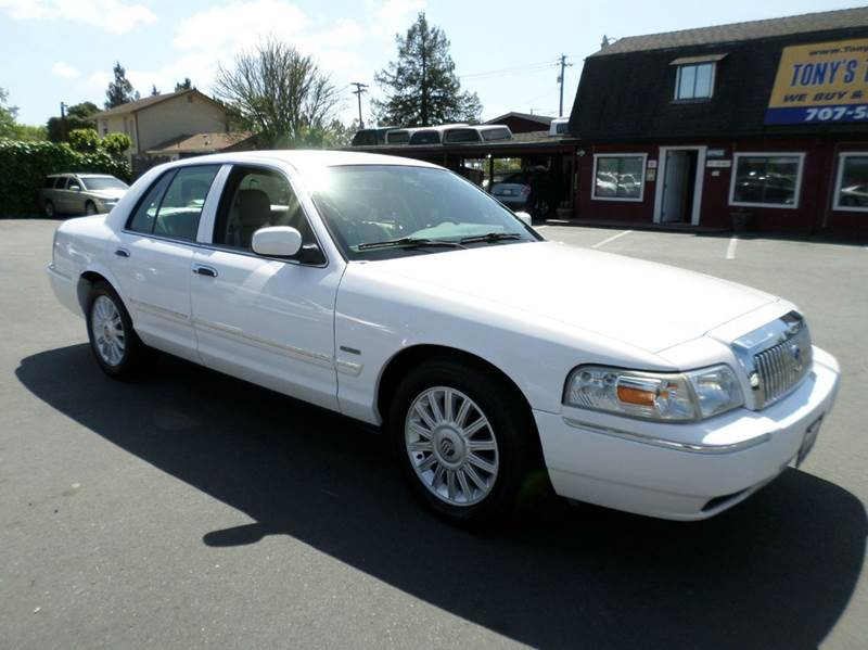 2010 MERCURY GRAND MARQUIS LS 4DR SEDAN white abs - 4-wheel air suspension - rear airbag deacti
