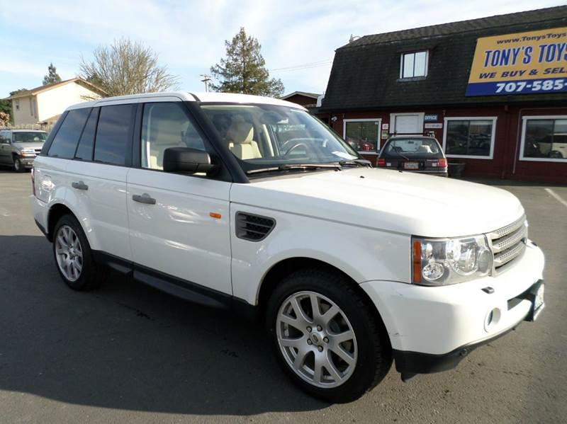 2008 LAND ROVER RANGE ROVER SPORT HSE 4X4 4DR SUV white 1 owner good servive records 4wd type - f