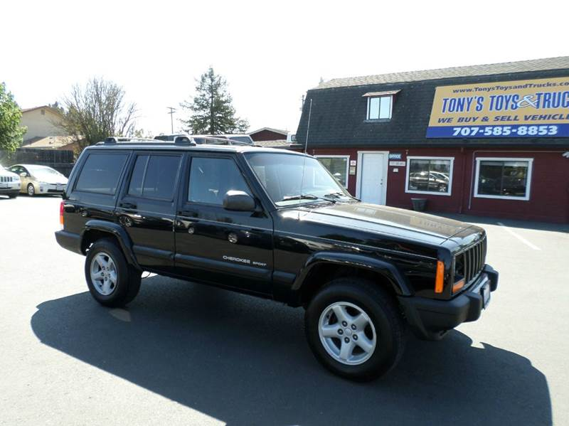 2000 JEEP CHEROKEE SPORT 4DR 4WD SUV black low mileage suv4wd service regularly 4