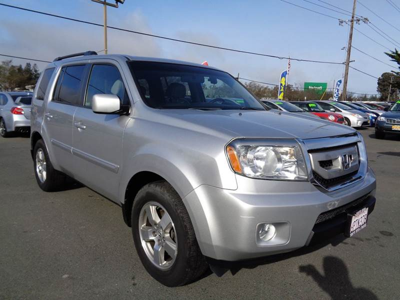 2011 HONDA PILOT EX L 4X4 4DR SUV silver one owner suv 3rd row seating 2-stage unlocking
