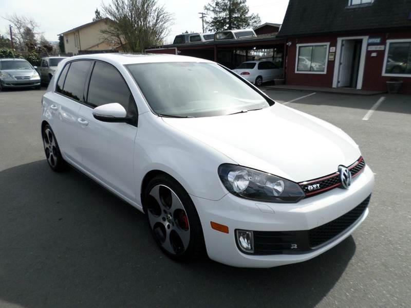 2011 VOLKSWAGEN GTI BASE PZEV 4DR HATCHBACK 6M W SU white manual 6-speed only 56206 miles n