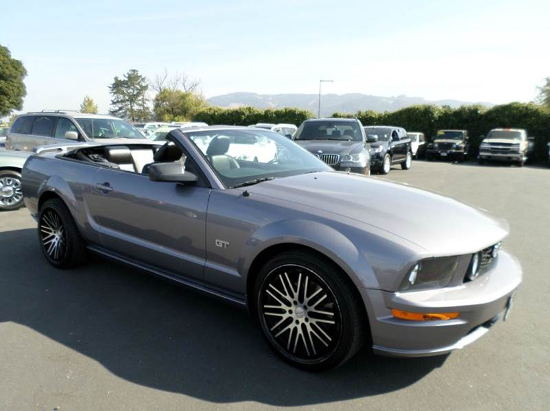 2006 FORD MUSTANG GT DELUXE 2DR CONVERTIBLE gray mustang gt must sell before rain abs - 4