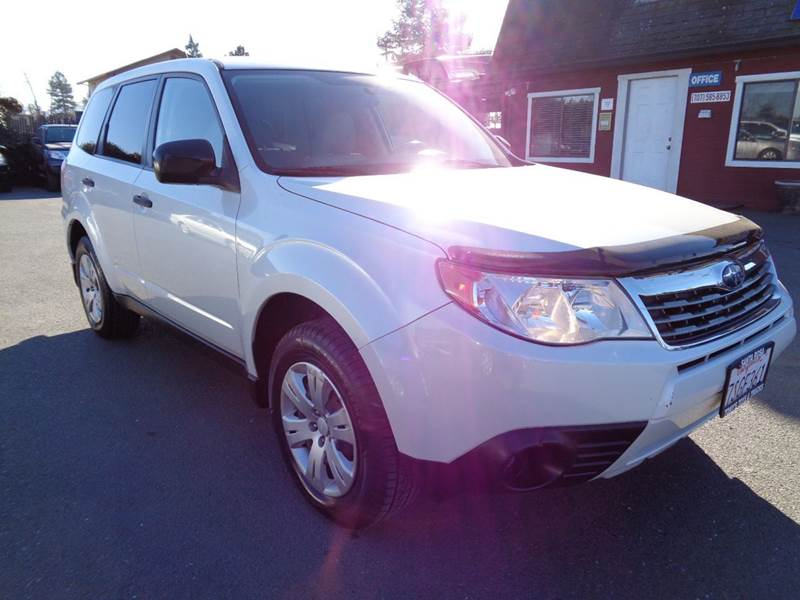 2009 SUBARU FORESTER 25 X AWD 4DR WAGON 5M white new tires clean  2-stage unlocking