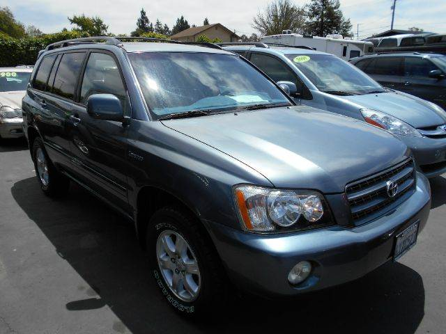 2002 TOYOTA HIGHLANDER LIMITED AWD 4DR SUV blue abs - 4-wheel anti-theft system - alarm captain