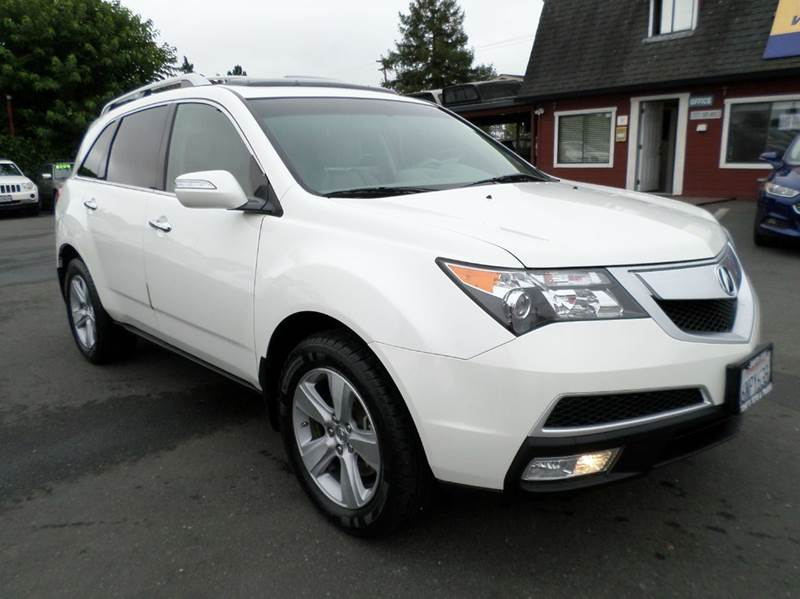 2011 ACURA MDX SH AWD WTECH 4DR SUV WTECHNOLO white one owner vehicle 3rd row seating