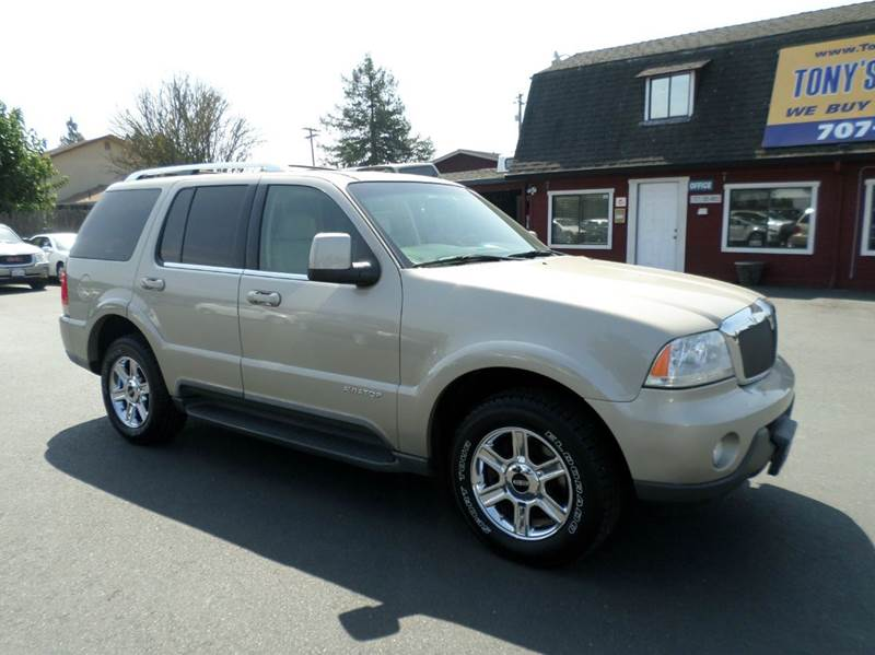 2004 LINCOLN AVIATOR LUXURY AWD 4DR SUV gold new tires clean suv 3rd row seating dvd pla