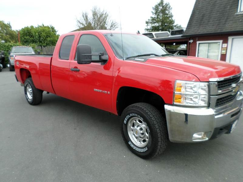 2008 CHEVROLET SILVERADO 2500HD LT1 4WD 4DR EXTENDED CAB LB red allison duramax transmission 1 ow