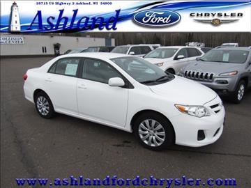 2012 Toyota Corolla for sale in Ashland, WI