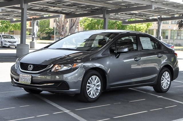 2013 HONDA CIVIC LX 4DR SEDAN 5A grey we finance everybody having trouble financing a car we g