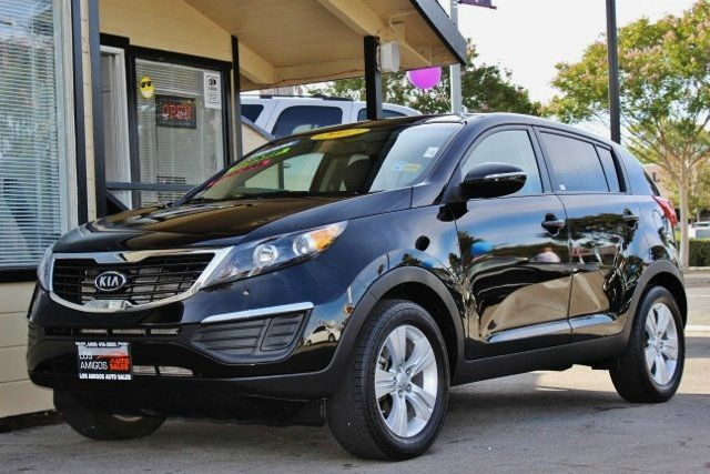 2012 KIA SPORTAGE BASE 4DR SUV black we finance everybody  having trouble financing a car we g