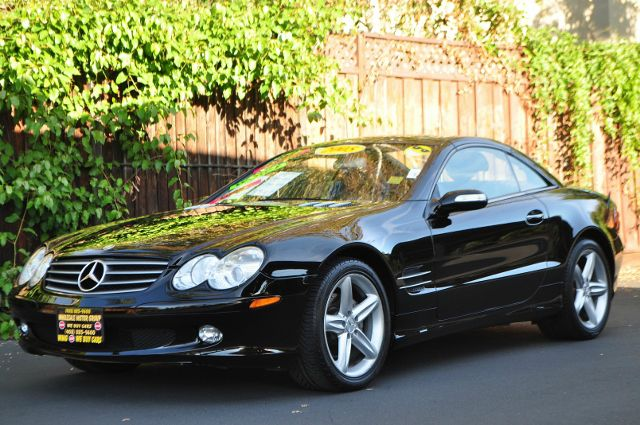 2005 MERCEDES-BENZ SL-CLASS SL500 2DR CONVERTIBLE black we finance everybody  having trouble fin