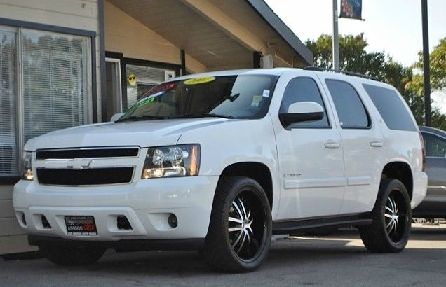 2007 CHEVROLET TAHOE LS 4DR SUV 4WD white we finance everybody  having trouble financing a car