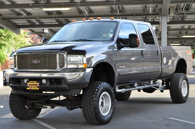 2003 FORD F-350 SUPER DUTY LARIAT 4DR CREW CAB 4WD SB gray we finance everybody  having trouble