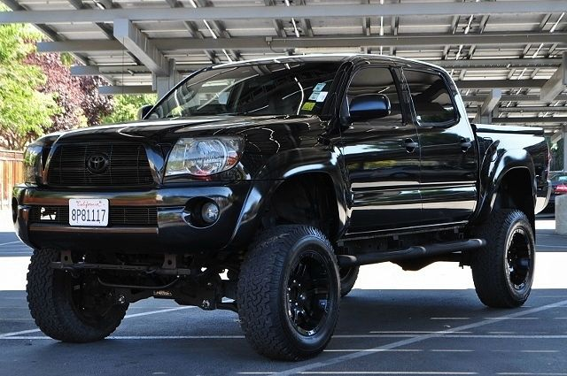 2008 TOYOTA TACOMA PRERUNNER V6 4X2 PICKUP CREW CAB black we finance everybody  having trouble f