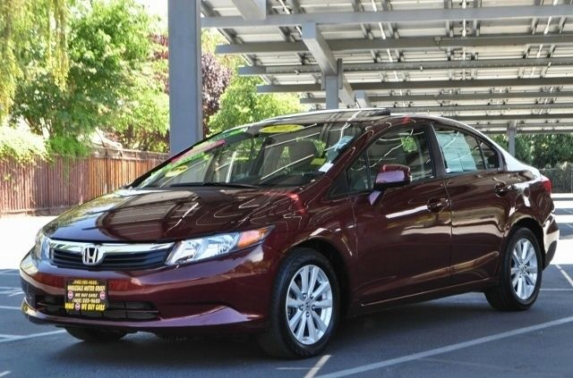 2012 HONDA CIVIC EX 4DR SEDAN maroon we finance everybody  having trouble financing a car we g