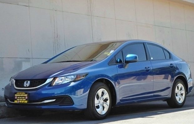 2013 HONDA CIVIC LX blue we finance everybody  having trouble financing a car we gurantee 100