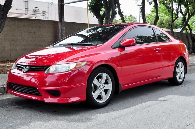 2008 HONDA CIVIC EX-L COUPE redblack we finance everybody having trouble financing a car we g