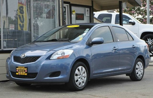 2012 TOYOTA YARIS FLEET 4DR SEDAN 4A blue we finance everybody  having trouble financing a car