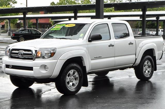 2010 TOYOTA TACOMA PRERUNNER V6 4X2 4DR DOUBLE CAB white we finance everybody having trouble fin