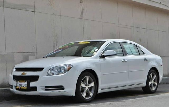 2012 CHEVROLET MALIBU LT 4DR SEDAN W1LT white we finance everybody  having trouble financing a