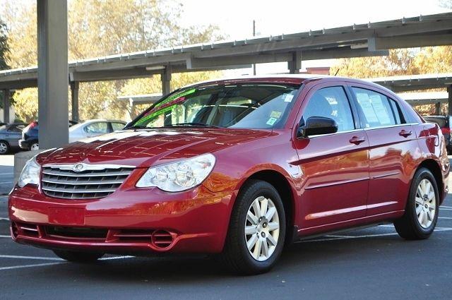 2008 CHRYSLER SEBRING LX 4DR SEDAN red we finance everybody  having trouble financing a car we