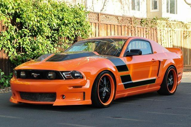 2007 FORD MUSTANG GT PREMIUM 2DR COUPE orange we finance everybody  having trouble financing a c