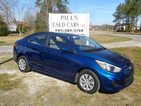 2015 Hyundai Accent for sale in Lake City, SC