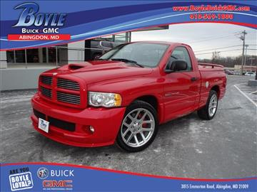 2005 Dodge Ram Pickup 1500 SRT-10 for sale in Abingdon, MD