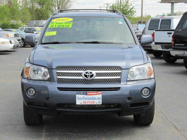 2007 toyota highlander hybrid awd 4dr suv w 3rd row in worcester ma metrowest auto sales. Black Bedroom Furniture Sets. Home Design Ideas