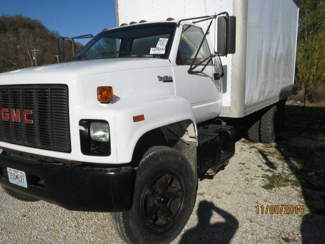 1991 GMC TOPKICK BOX WITH LIFT - Hardin IL