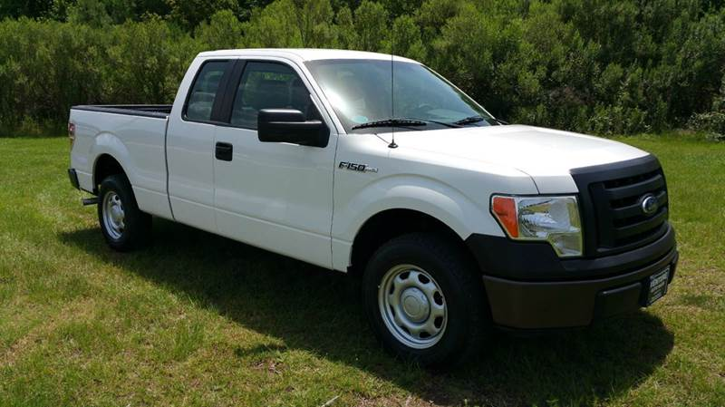 2010 FORD F-150 XL 4X2 4DR SUPERCAB STYLESIDE 6 white very low miles for a 2010 all power cru