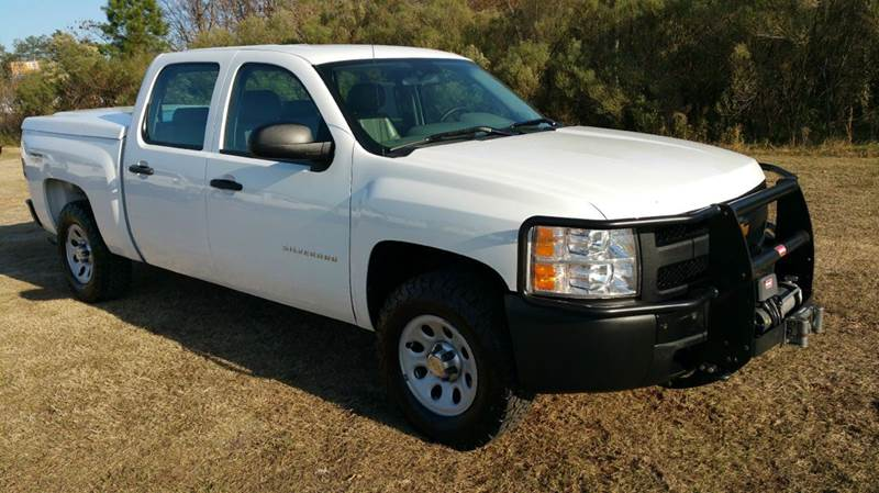 2012 CHEVROLET SILVERADO 1500 4X4 4DR CREW CAB 58 FT SB white you gotta see this truck to see