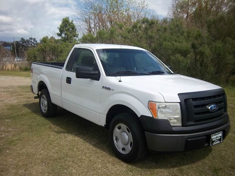 2009 FORD F-150 XL 4X2 2DR REGULAR CAB STYLESIDE white f150 regular cab short bed with power wi