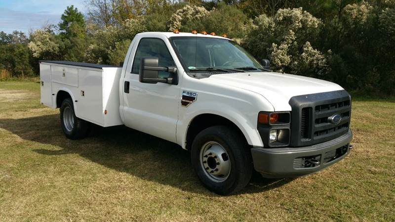 2009 FORD F-350 SUPER DUTY DULLY DIESEL SERVICE BODY XL 2WD DRWH white this truck is one of the c