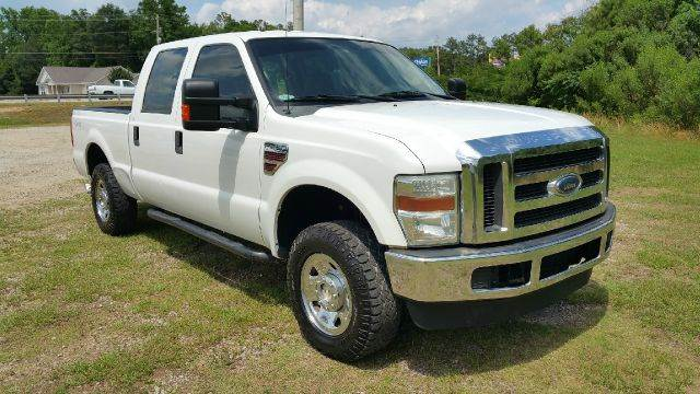 2008 FORD F-250 SUPER DUTY XLT 4DR CREW CAB 4WD SB white 4x4 crew cab short bed xlt pkg with