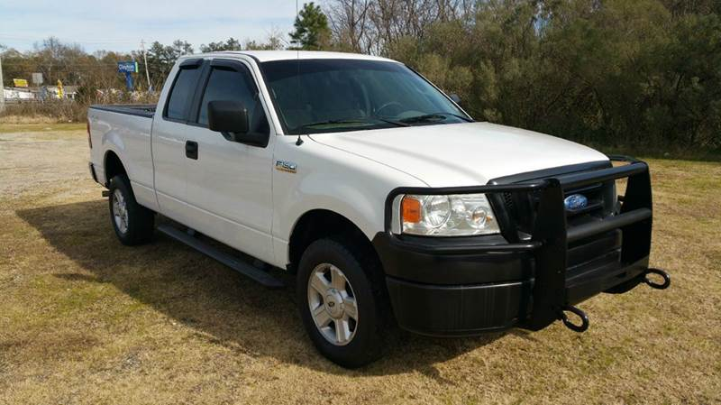 2008 FORD F-150 XL 4X4 4DR SUPERCAB STYLESIDE 6 white really nice 4x4 extended cab f150 with a