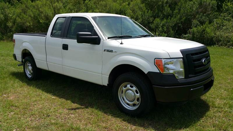 2012 FORD F-150 XL 4X2 4DR SUPERCAB STYLESIDE 6 white 4dr extended cab short bed with a power p