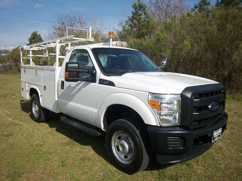2012 FORD F-350 4X4 SERVICE TRUCK 2DR SERVICE BODY white knapheide service body with top boxes