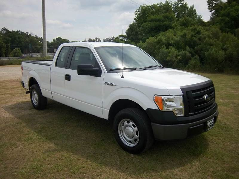 2012 FORD F-150 XL 4X2 4DR SUPERCAB STYLESIDE 6 white 2012 f150 extended cab short bed with th