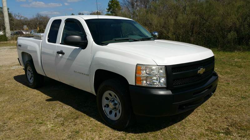 2009 CHEVROLET SILVERADO 1500 4X4 4DR EXTENDED CAB 65 FT SB white really nice extended cab sho
