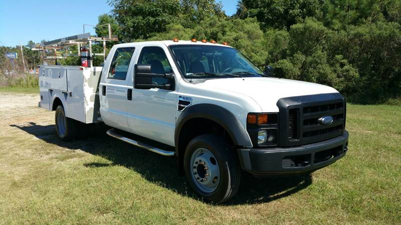 2008 FORD F550 CREW CAB SERVICE TRUCK 4DR DRWH DIESEL white this truck is a work horse f550 cr