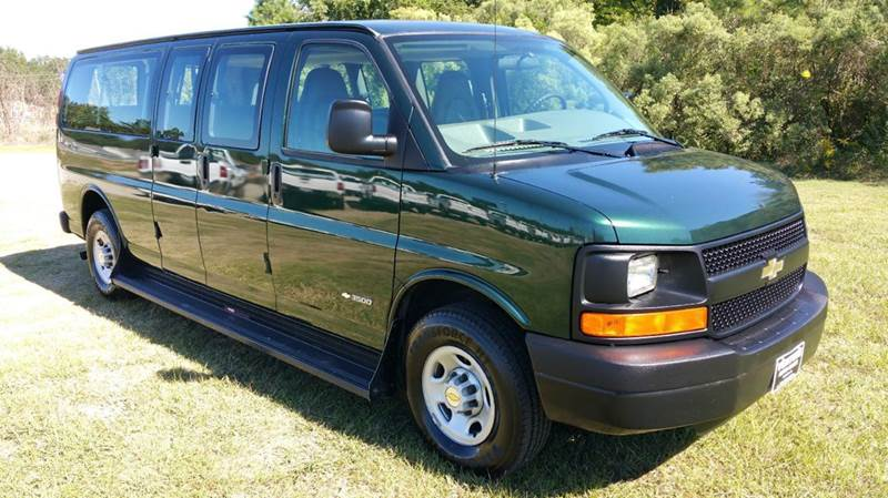 2004 CHEVROLET EXPRESS PASSENGER 3500 3DR EXTENDED PASSENGER VAN dk green make some great family