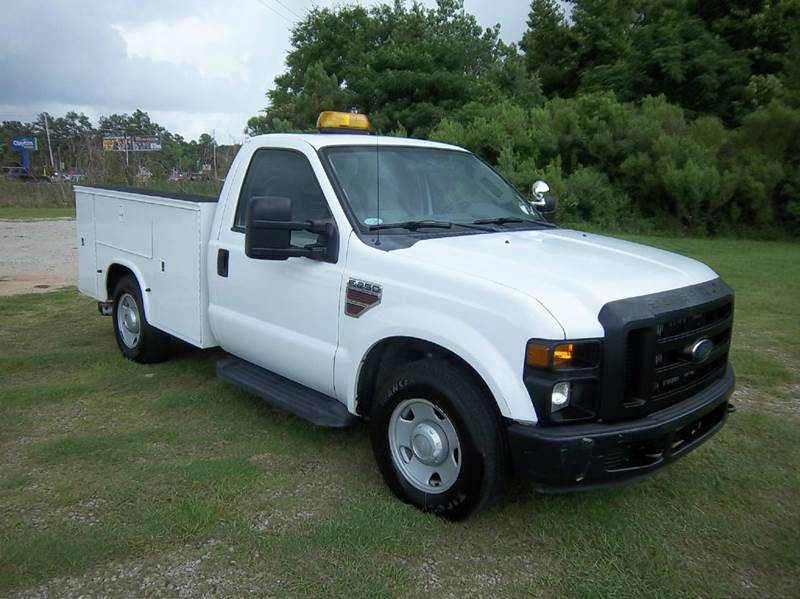 2008 FORD F-250 SUPER DUTY XL 2DR REGULAR CAB LB RWD white this truck is a rare find knapheide s