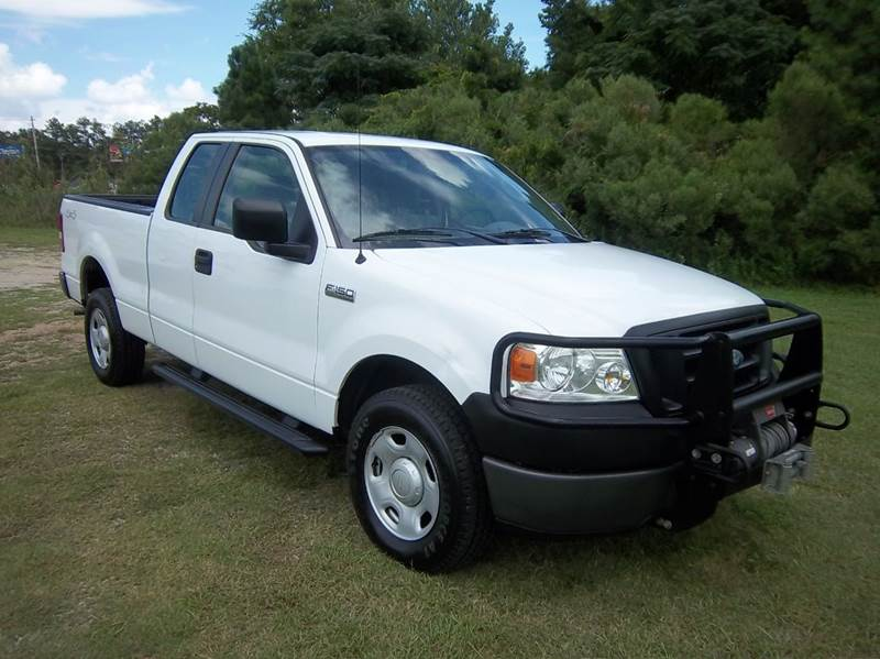2008 FORD F-150 XL 4X4 4DR SUPERCAB STYLESIDE 6 white its hunting season  you need a truck yo