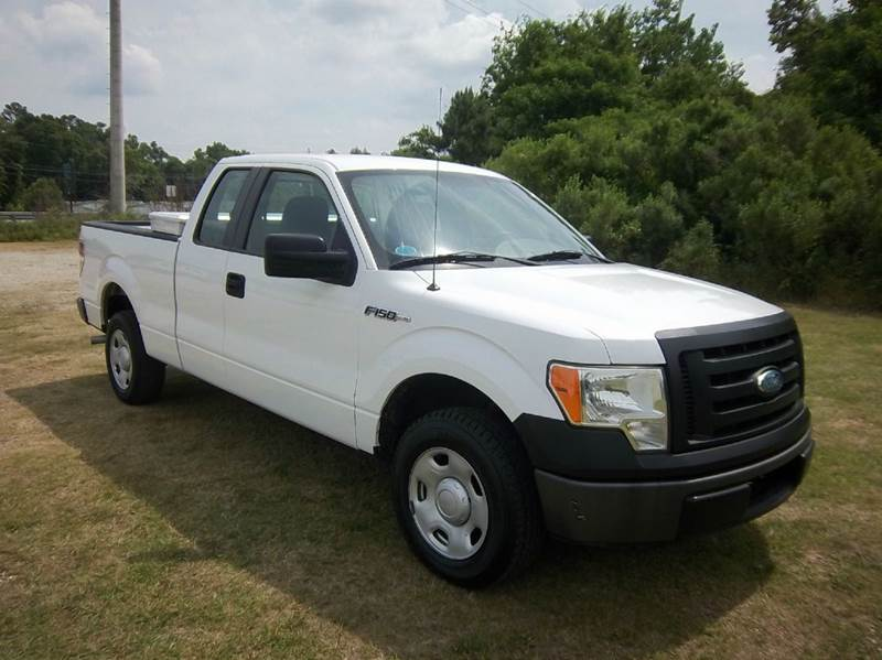 2009 FORD F-150 XL 4X2 4DR SUPERCAB STYLESIDE 6 white f150 4dr extended cab short bed with low