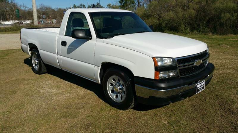 2007 CHEVROLET SILVERADO 1500 CLASSIC LS 2DR REGULAR CAB 8 FT LB white super clean regular cab