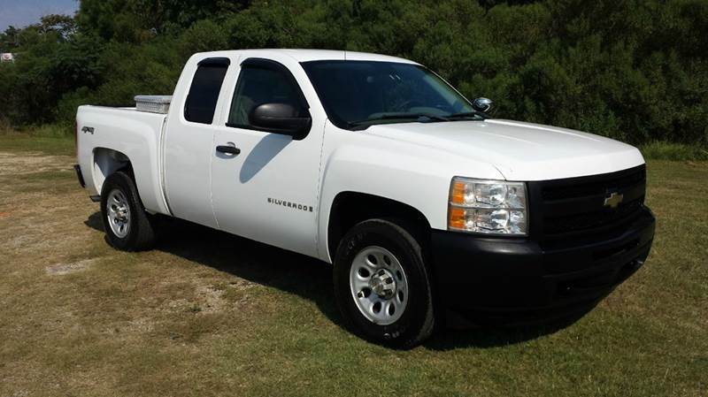 2009 CHEVROLET SILVERADO 1500 4X4 4DR EXTENDED CAB 58 FT SB white 4wd extended cab short bed