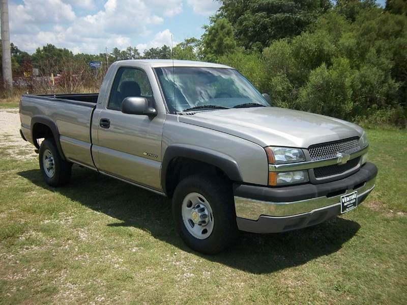 2003 CHEVROLET SILVERADO 2500 2DR STANDARD CAB RWD LB pewter for a 2003 this is one great lookin