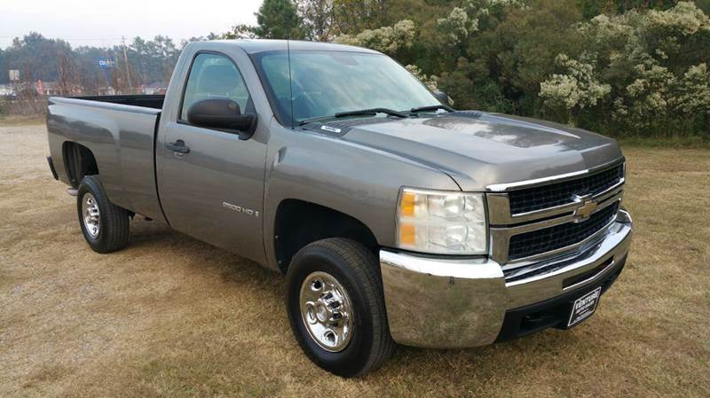 2008 CHEVROLET SILVERADO 2500HD 2WD 2DR REGULAR CAB LB gray regular cab long bed with only 50k