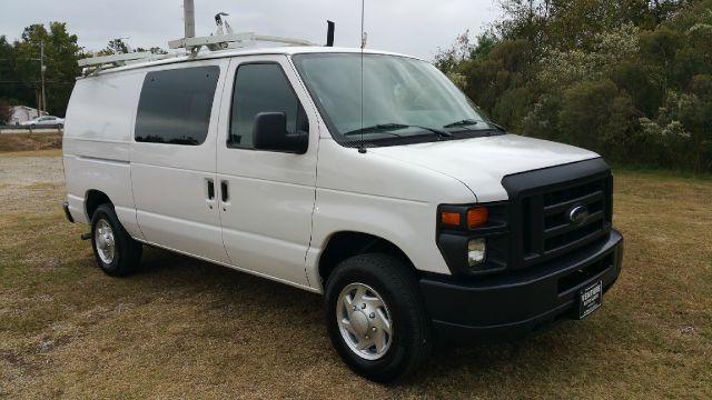 2013 FORD E150 SERIES CARGO ECONOLINE white one owner fleet van with quiet flex interior shelves